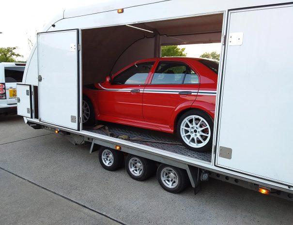 red-car-trailer